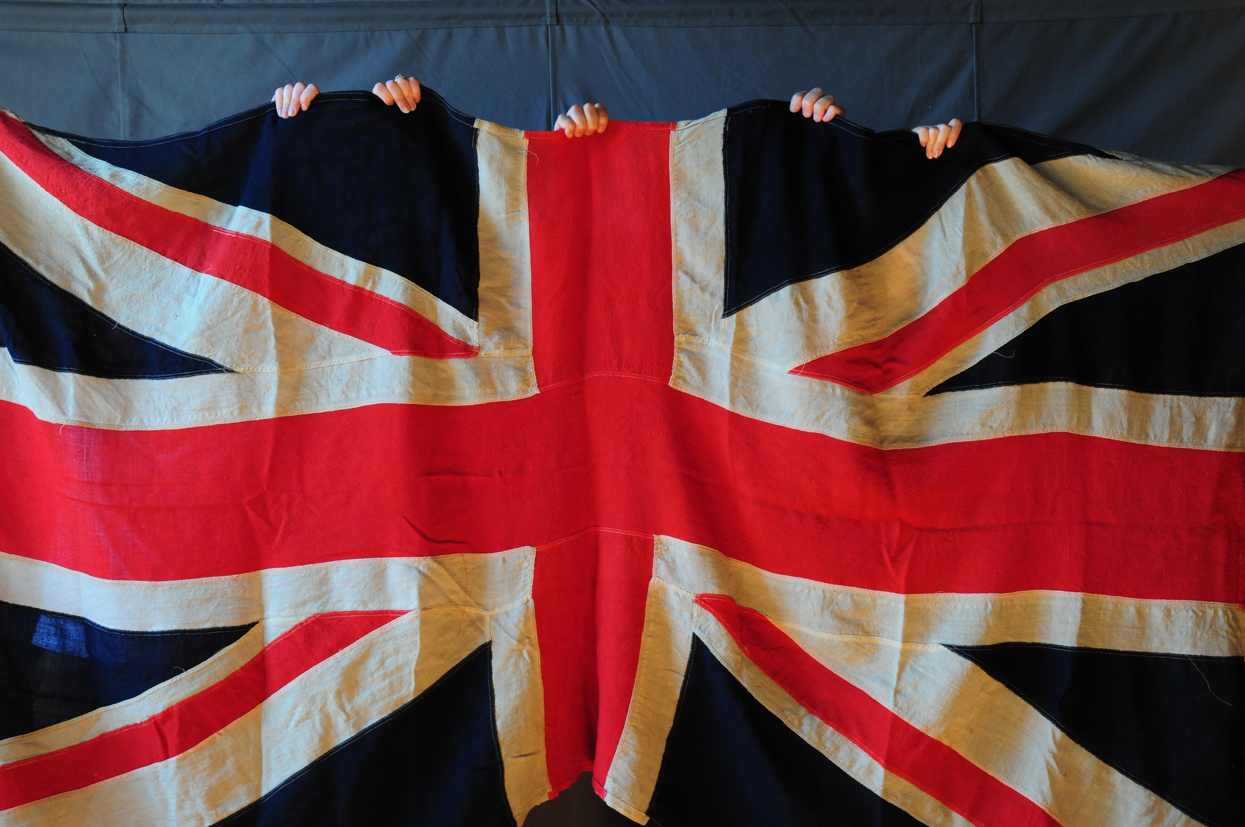 Holding UK Flag Canada